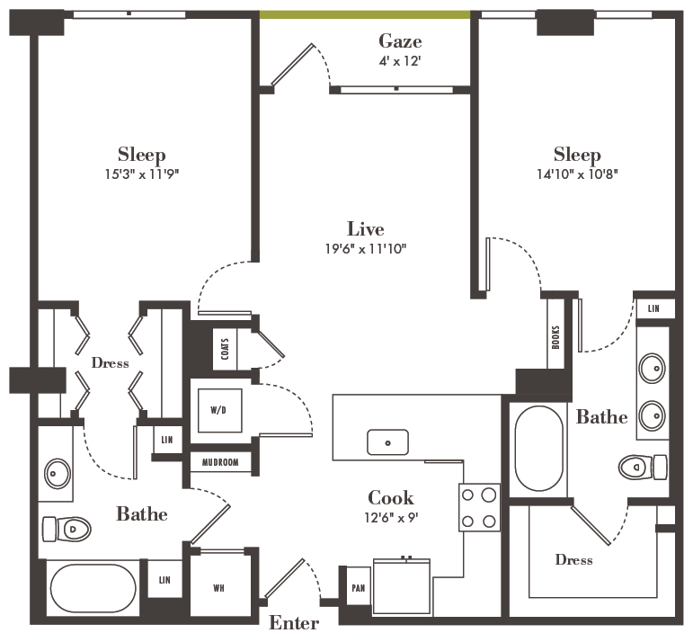 2 Bedroom Apartments Denver: Two-Bedroom Denver Apartments Made For Relaxation %title
