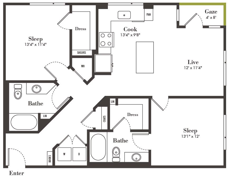 two bedroom Denver apartments