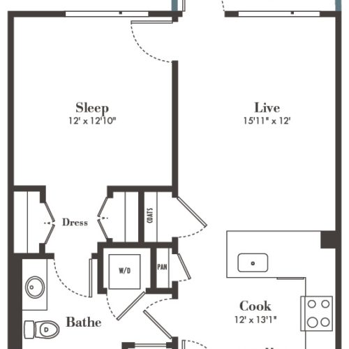 A1 one bed one bath - Live Each Day in Luxury