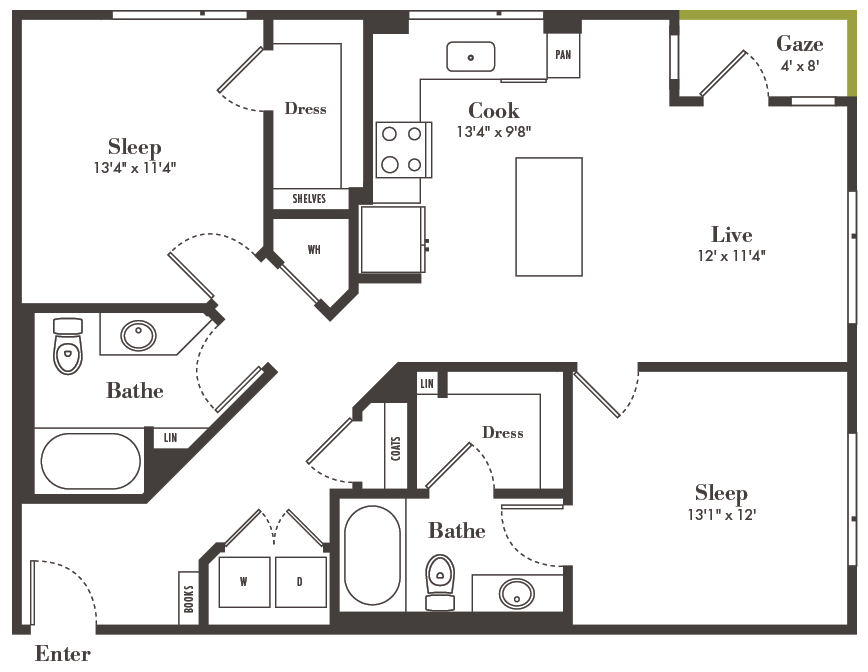 two-bedroom Denver apartments