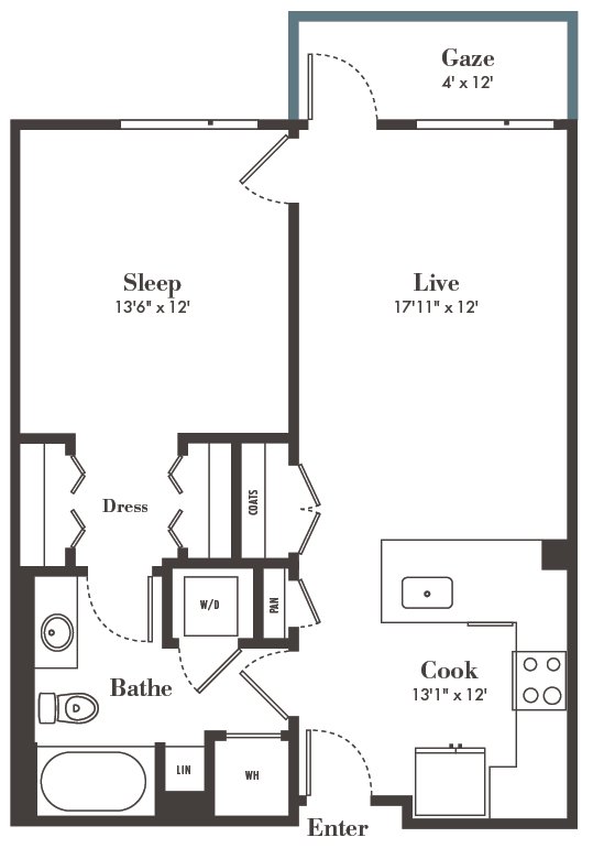 one bed/one bath luxury apartment home - Relax and Unwind in Style