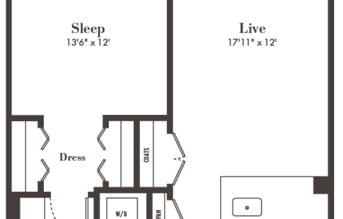 A3 one bed/one bath at Alexan 20th Street Station- Enjoy Yourself with Effortless Luxury